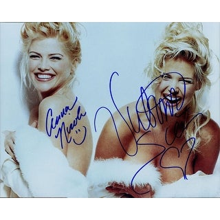 Signed Playmates Anna Nicole Smith Victoria Silvstedt 8x10 Photo By Anna Nicole Smith and Victoria