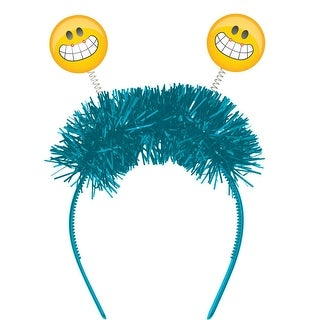 Pack of 12 Yellow and Blue Show Your Emojions Flashing Headbands 12