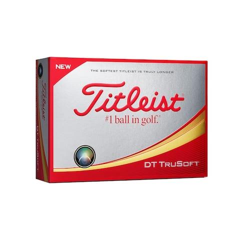 Titleist DT Trusoft Golf Balls Dozen - White