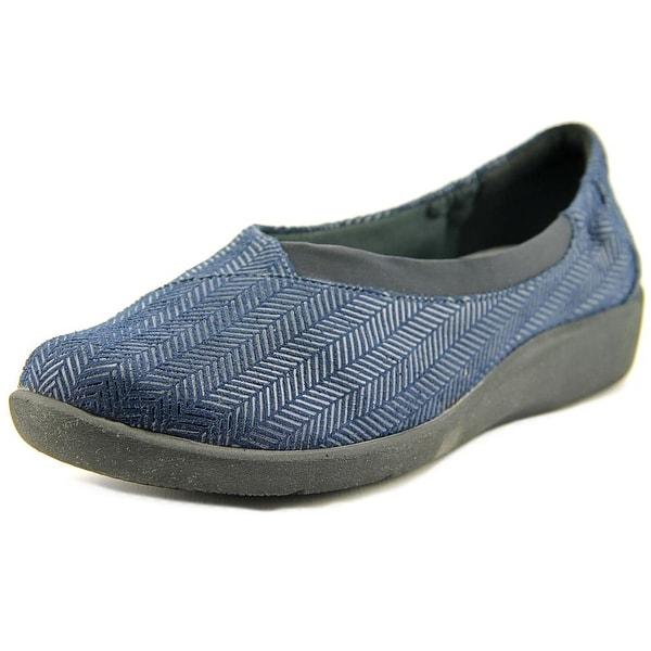 Clarks Sillian Jetay Women Round Toe Canvas Blue Loafer