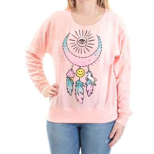 RAMPAGE $16 Womens New 1703 Pink Dream Catcher Rhinestone Sweater S Juniors B+B