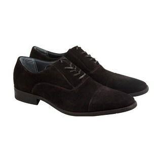 Calvin Klein Radley Oily Suede Mens Gray Suede Casual Dress Oxfords Shoes