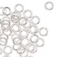 Sterling Silver Open Jump Rings 4mm 19 Gauge Heavy (x25)