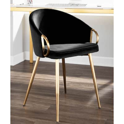 Silver Orchid Battista Glam Gold Upholstered Chair