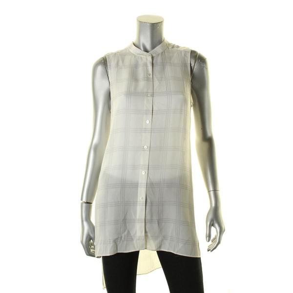 e4337fb0ad7c3d Shop Eileen Fisher Womens Button-Down Top Silk - xs - Free Shipping Today -  Overstock - 17671680