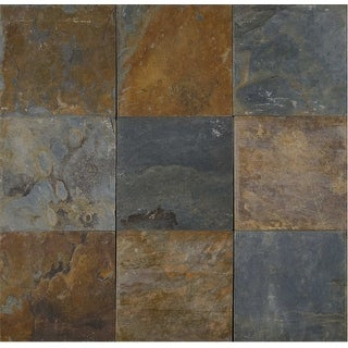 """MSI SCALGLD1616G-C  16"""" x 16"""" Square Wall & Floor Tile - Textured Slate Visual - Sold by Carton (8.9 SF/Carton) - Natural"""