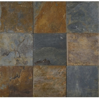 """MSI SCALGLD2424G  24"""" x 24"""" Square Wall & Floor Tile - Textured Slate Visual - Sold by Piece - Natural"""