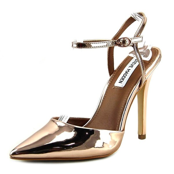 9a39a216bc5 Shop Steve Madden Pizzel Women Pointed Toe Synthetic Gold Heels ...