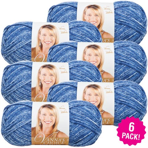 Lion Brand Vanna's Choice Yarn 6/Pk-Denim Mist - Blue
