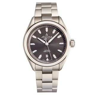 Link to Alpina Men's AL-240GS4E6B 'Alpiner' Grey Dial Stainless Steel Swiss Quartz Watch Similar Items in Men's Watches