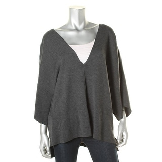 525 America Womens V neck Oversized Pullover Sweater - m/l