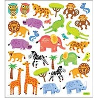 Jungle Animals - Multicolored Stickers