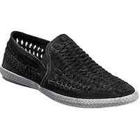 Stacy Adams Men's Paco Woven Slip On 25045 Black Suede