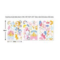 Brewster WT45064  48 Piece Vinyl Unicorn Kingdom Wall Stickers -