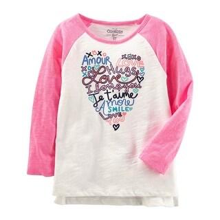OshKosh B'gosh Big Girls' Love Contrast Sleeve Tunic, 7 Kids