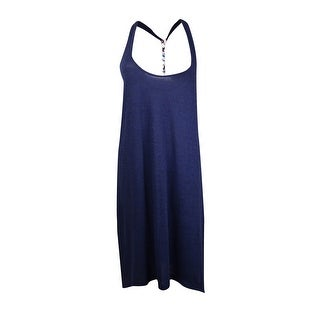 Lucky Brand Women's Sleeveless Asymmetrical Coverup - INDIGO