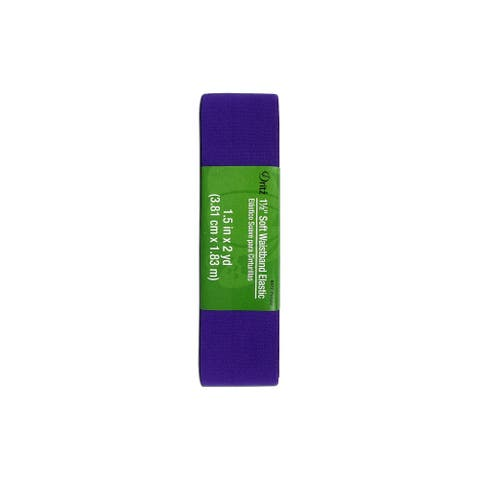 "Dritz Elastic Soft Waistband 1.5""x2yd Hank Purple"