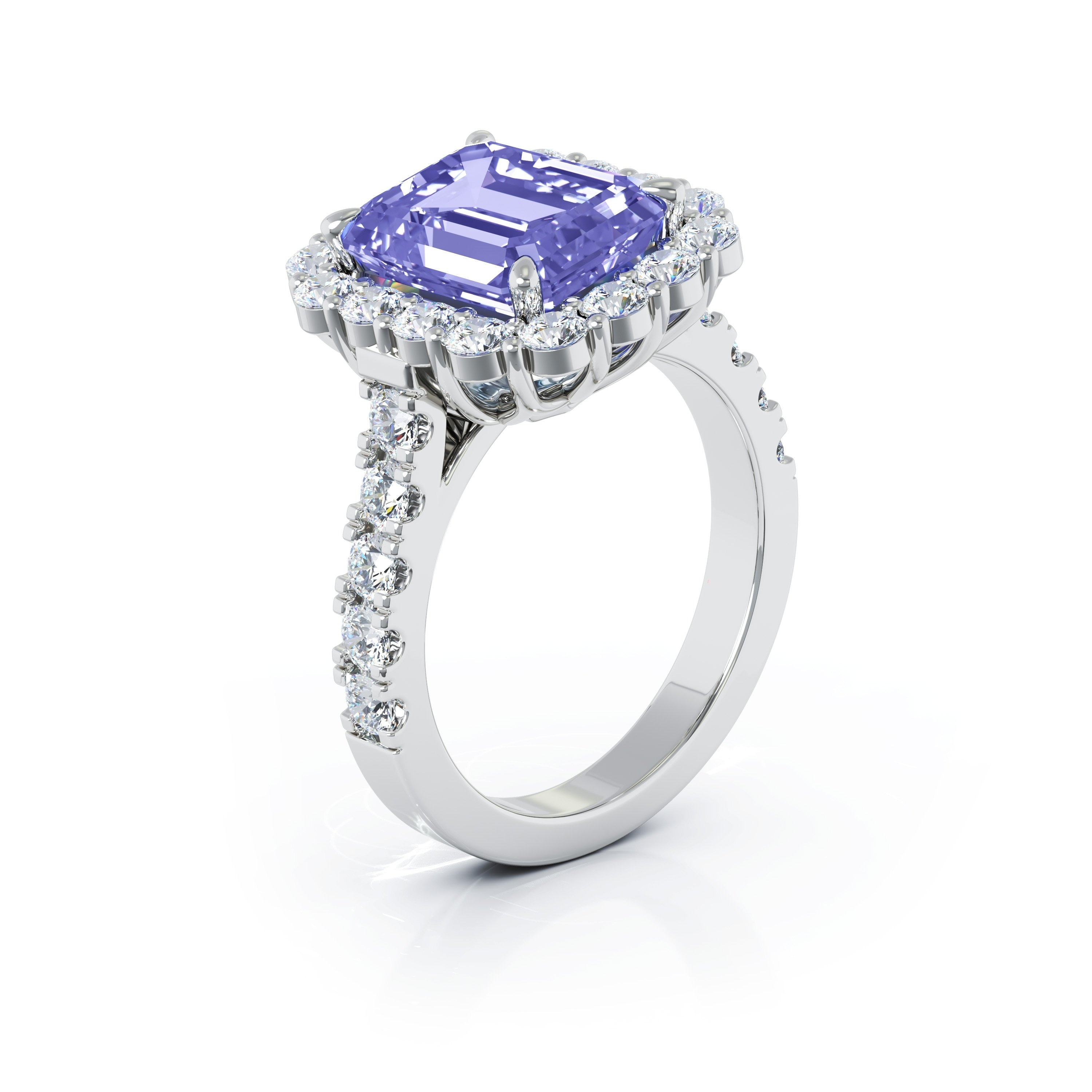 Details about  /1.30 CT Trillion Cut Tanzanite Engagement Wedding Ring In 14K Yellow Gold Over
