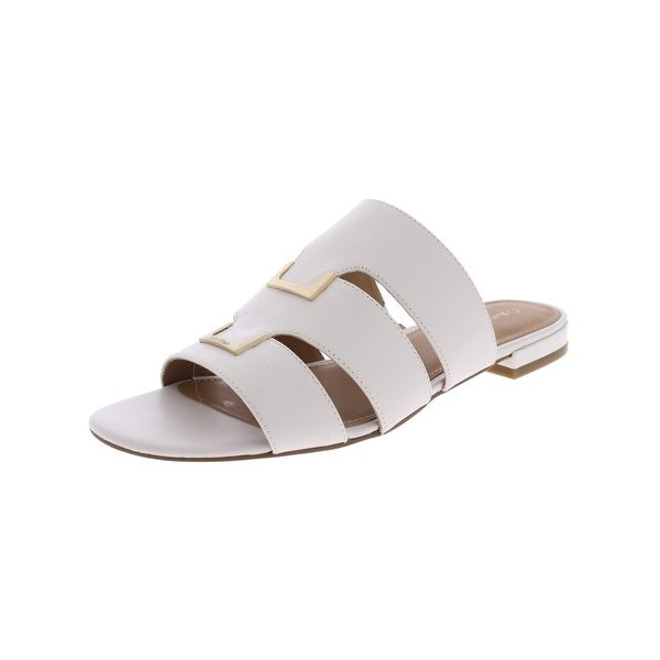 Calvin Klein Womens Evita Slide Sandals Flats Dress