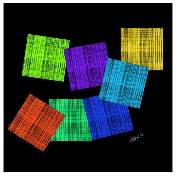 """""""Colored Squares On Black"""" Poster Print"""