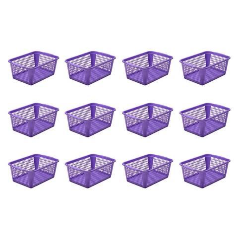 YBM Home Large Plastic Storage Basket for Organizing, 32-1184