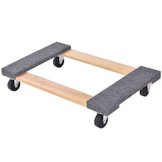 Costway 30''x 18'' Furniture Dolly Moving Carrier Mover Handle Casters 1000lbs Capacity