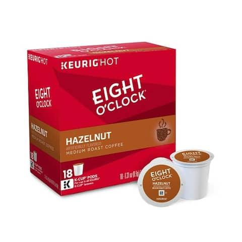 Eight O'Clock Coffee Hazelnut, Single Serve Coffee K-Cup Pod, Medium Roast-18ct