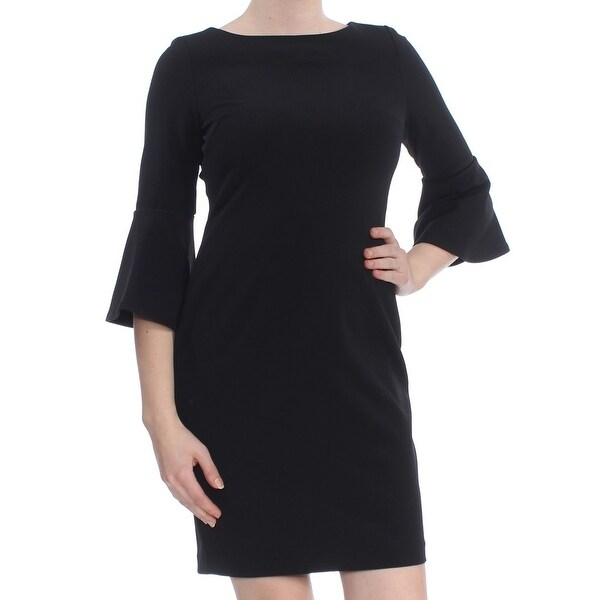 27f7eb1acf Shop CALVIN KLEIN Womens Black Bell Sleeve Above The Knee Sheath Cocktail  Dress Petites Size  8 - Free Shipping Today - Overstock - 27810608