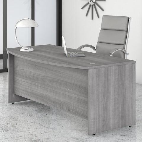 Studio C 72W x 36D Bow Front Desk by Bush Business Furniture