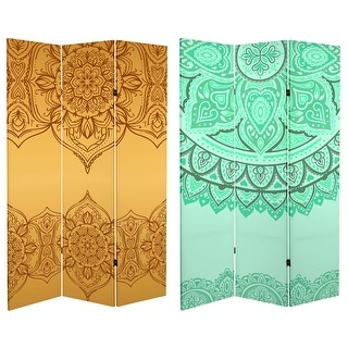 Link to 6 ft. Tall Double Sided Gold and Green Mandalas Canvas Room Divider Similar Items in Kids' & Toddler Furniture