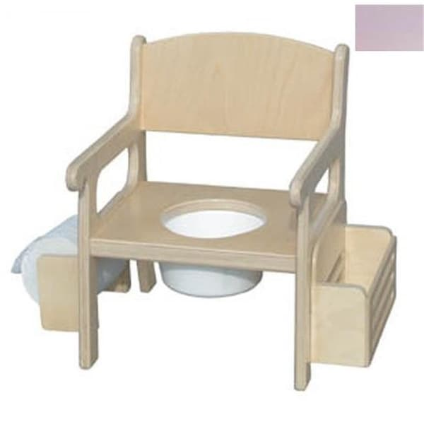 Little Colorado Handcrafted Potty Chair with Accessories in Soft Pink