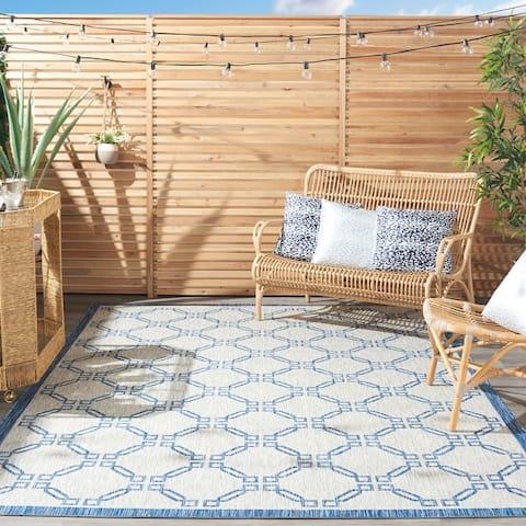Nourison Garden Party Geometric Casual Indoor/Outdoor Area Rug