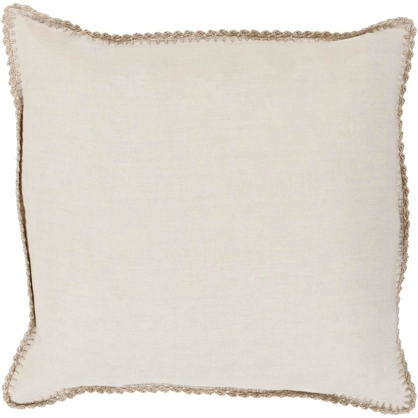"""20"""" Gray Classical Pattern Decorative Square Throw Pillow - Down Filler"""
