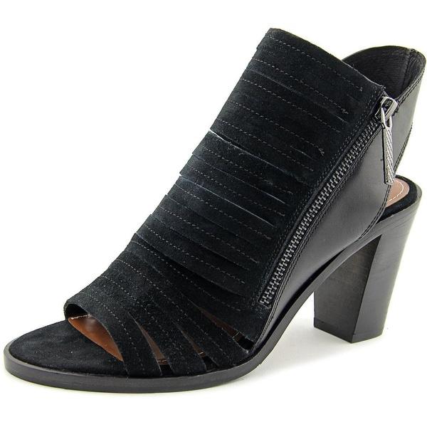 Donald J Pliner Kasia Women Open Toe Leather Black Sandals