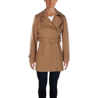 MICHAEL Michael Kors Womens Petites Coat Wool Solid - 2p