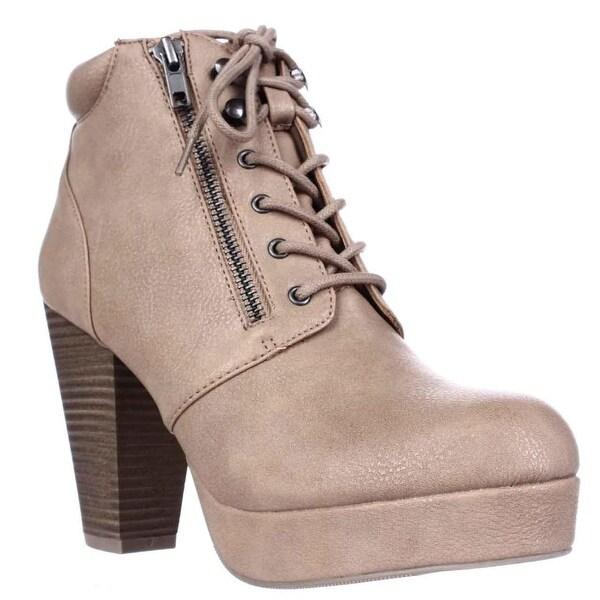 MG35 Rheta Platform Ankle Boots, Tan