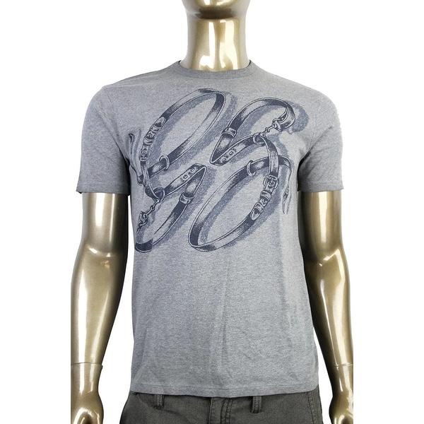 c0150f6a Shop Gucci Men's Cotton Graphic Top Horsebit Belt T Shirt 337660 ...