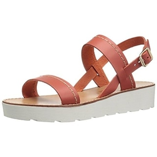 Seychelles Womens Bolder Leather Flatform Sandals