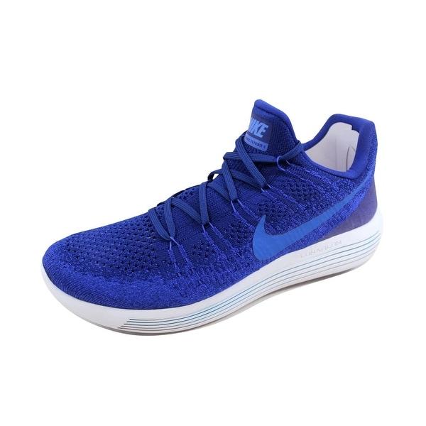b1ee19eec8f2 ... Men s Athletic Shoes. Nike Men  x27 s Lunarepic Low Flyknit 2 Deep  Royal Blue Medium Blue