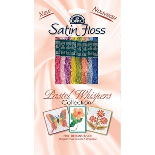DMC Satin Floss Collection Pack 8.7yd 8/Pkg-Pastel Whispers