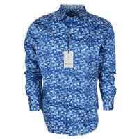 Robert Graham Men's BISBEE Blue White Floral Classic Fit Button Down Shirt