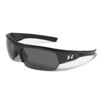 Under Armour UA Men's Big Shot Armour Fusion Sport Sunglasses 1276142 (Black) - Black - One size