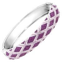 Crystaluxe Harlequin Bangle Bracelet with Swarovski elements Crystals in Sterling Silver