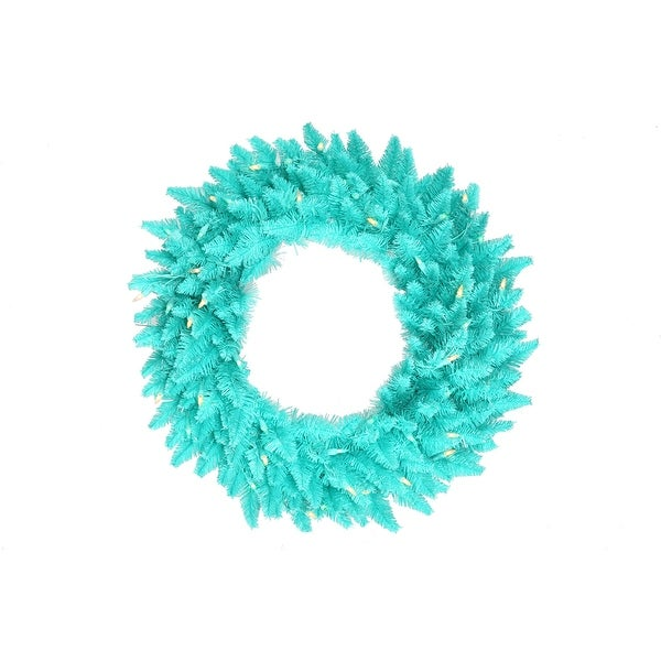 "36"" Aqua Fir Wreath DuraL LED 100Aq 320T"