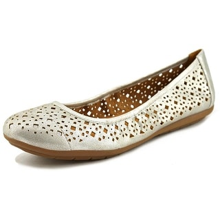 Naturalizer Undone Women Round Toe Synthetic Silver Flats