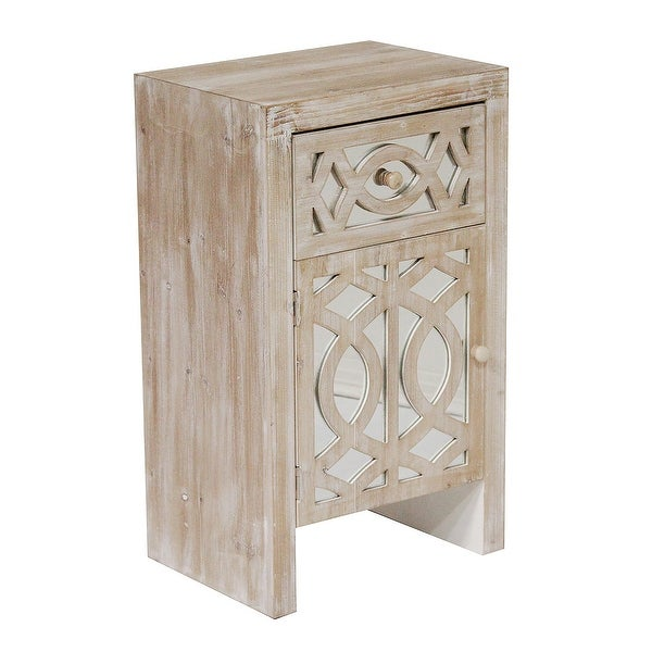 Shop 1-Drawer, 1-Door Accent Cabinet W/ Carved Trellis