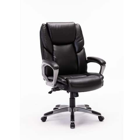 Moda 2190-B Bonded Leather Office Chair Adjustable Back