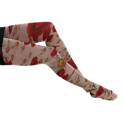 Dolce & Gabbana Multicolor Daisy Floral Print Stockings Tights - S