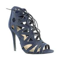 Qupid Womens Blue Ankle Strap Heels Size 7.5