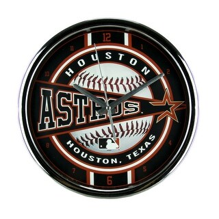 MLB Houston Astros Wall Clock Chrome Finished Frame - Brown